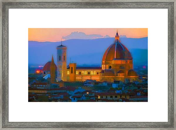Dawn In Florence Framed Print