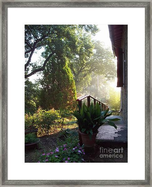 Dawn In Podere Maria-cristina Framed Print