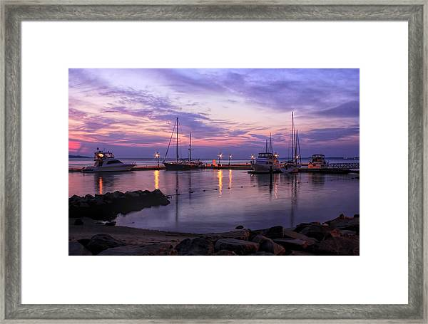 Dawn In Yorktown Virginia Framed Print