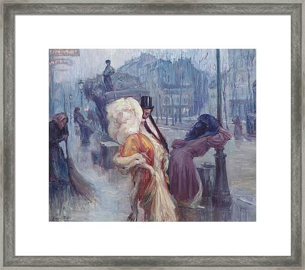 Dawn Leaving The Restaurant In Montmartre Framed Print