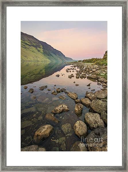 Dawn Of Evening Framed Print