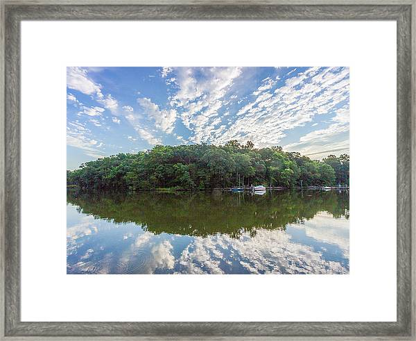 Dawn On The Magothy River Framed Print