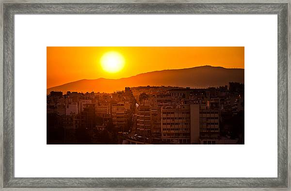 Dawn Over Athens Framed Print