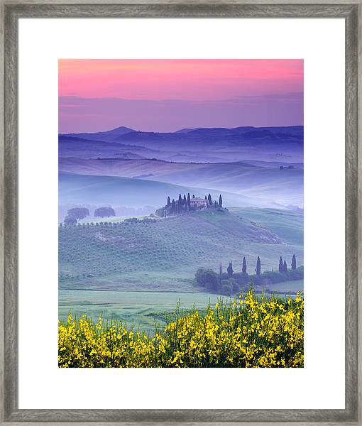 Dawn Over Belvedere Framed Print