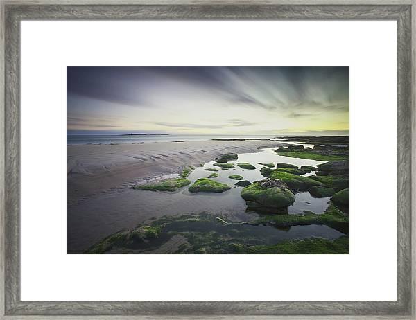 Dawn Over Seahouses Beach Framed Print