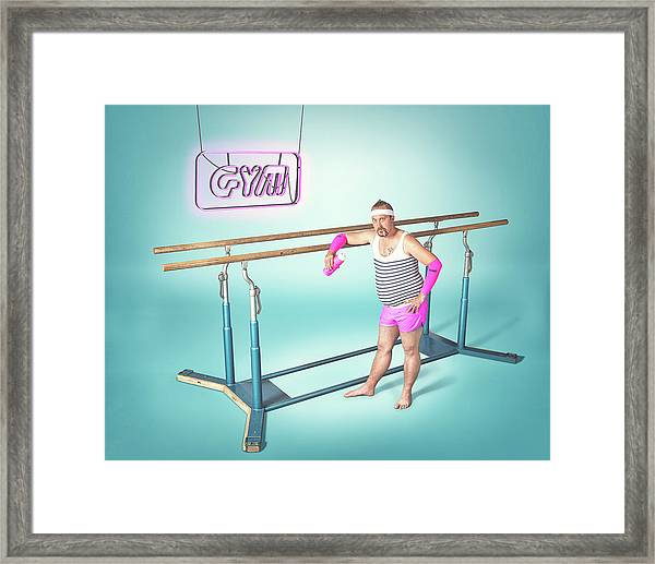 Day At The Gym Framed Print