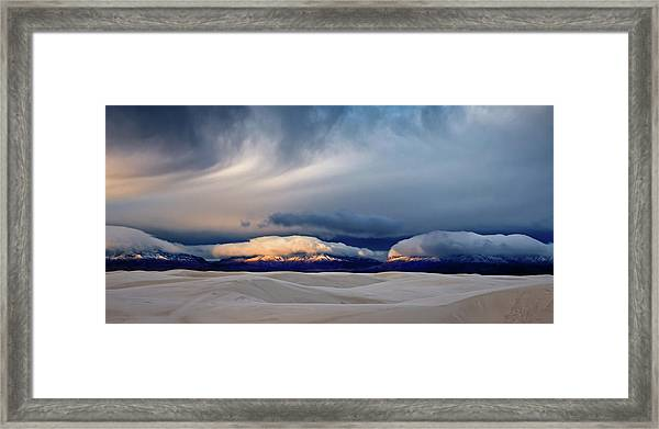 Day Break At White Sand Framed Print