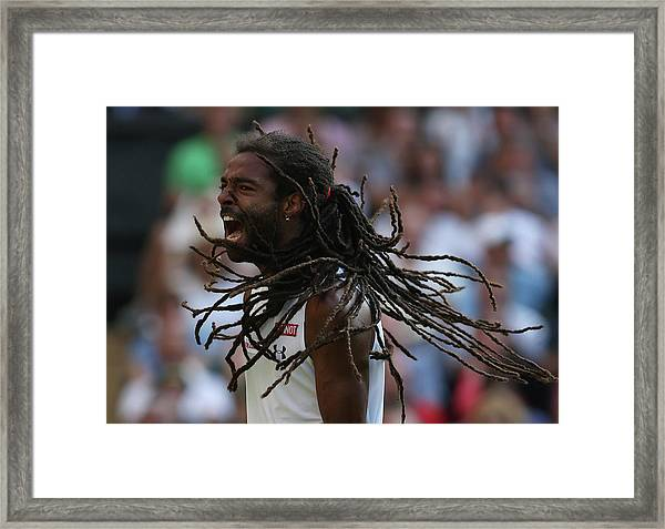 Day Four The Championships - Wimbledon Framed Print