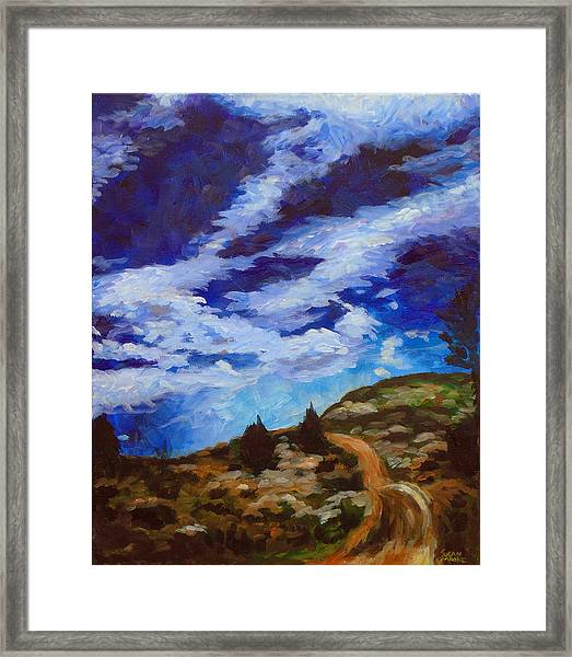 Day Hike Framed Print by Susan Moore