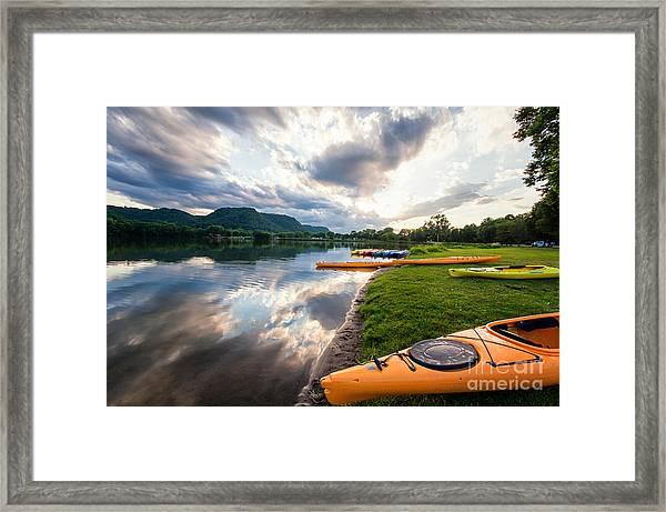 Framed Print featuring the photograph Day Is Done by Kari Yearous