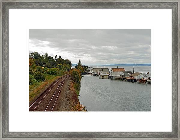 Day Island Bridge View 3 Framed Print