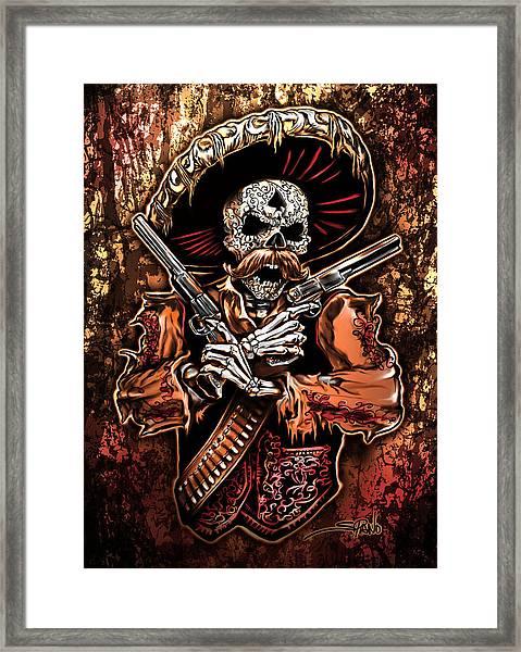 Day Of The Dead Gunslinger Framed Print