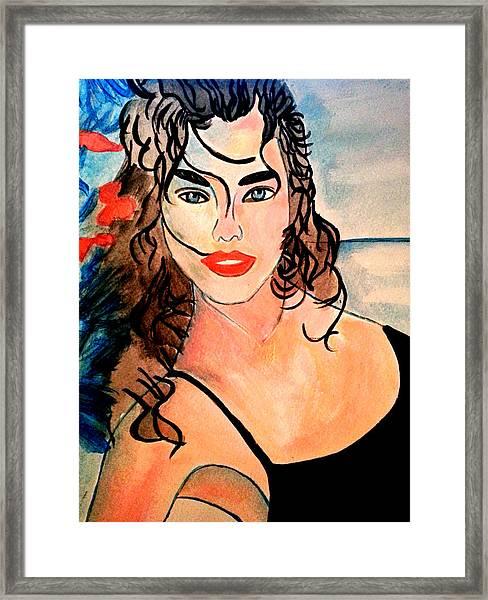 Day On The Beach Framed Print