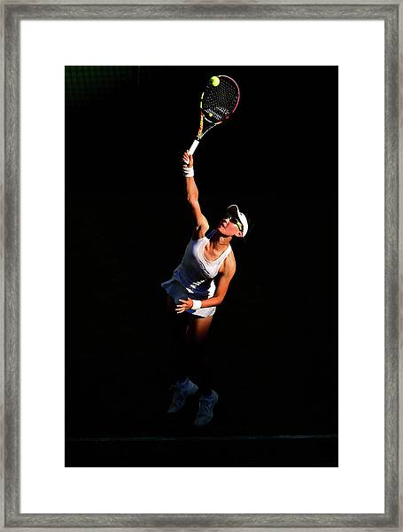 Day Two The Championships - Wimbledon Framed Print