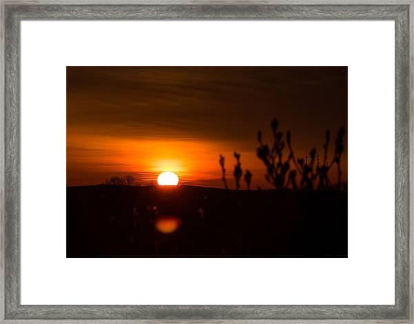Sunrise Over The Battlefield Framed Print