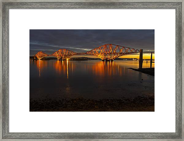 Daybreak At The Forth Bridge Framed Print