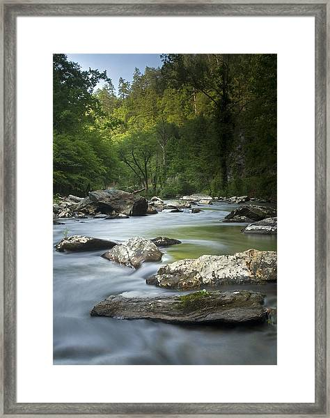 Daybreak In The Valley Framed Print
