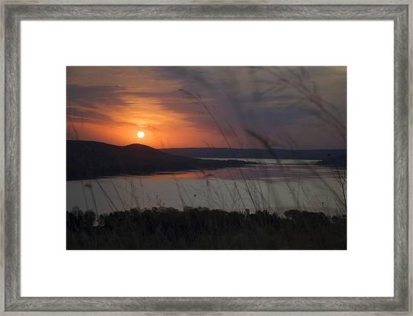 Daybreak On Glen Lake Framed Print