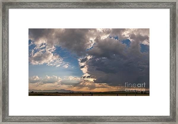 Daybreak Panorama Framed Print