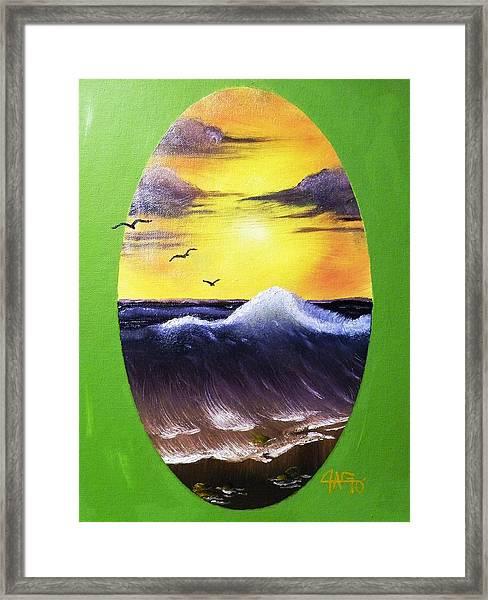 Daybreak Tide Framed Print