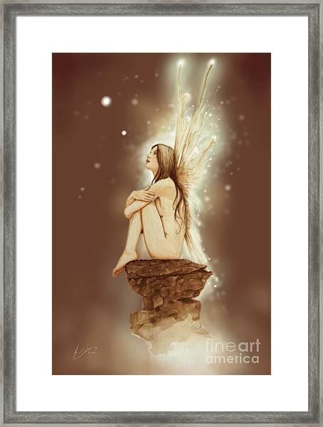 Daydreaming Faerie Framed Print