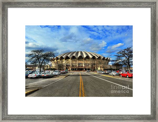 Daylight Of Wvu Basketball Coliseum Arena Framed Print