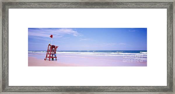 Daytona Beach Fl Life Guard  Framed Print