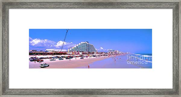 Daytona Main Street Pier And Beach  Framed Print