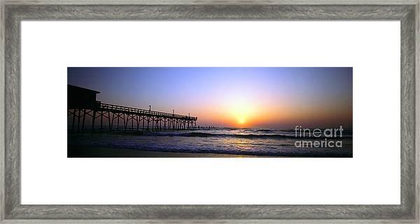 Daytona Sun Glow Pier  Framed Print