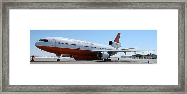 Dc-10 Air Tanker At Rapid City Framed Print