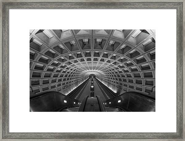 Framed Print featuring the photograph D.c. Subway by Dustin  LeFevre