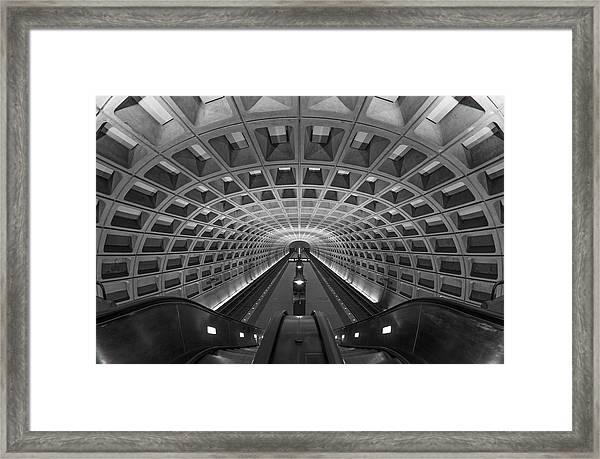 D.c. Subway Framed Print