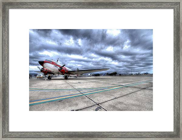 Dc3 And C47 Among The Mustangs At Salinas Air Show Framed Print by John King