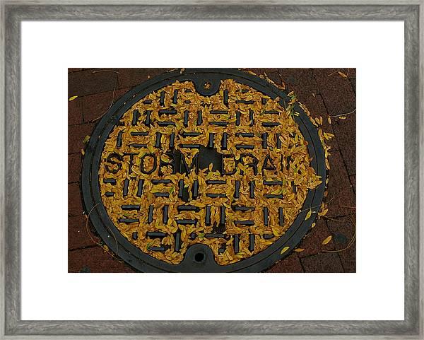 De Stijl Drain Framed Print