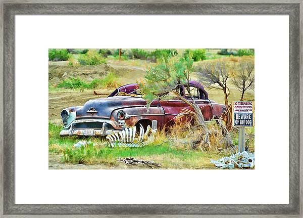 Framed Print featuring the photograph Dead Car by David Armstrong
