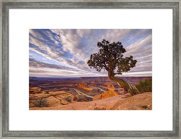 Framed Print featuring the photograph Dead Horse Point Sunrise by Dustin  LeFevre