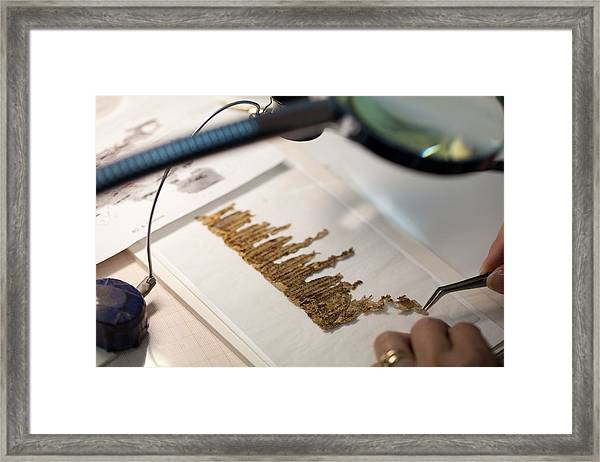Dead Sea Scrolls Online Library Launched Framed Print by Uriel Sinai