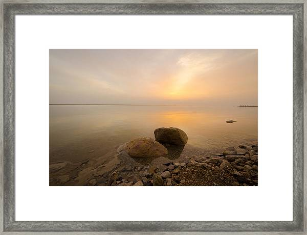 Dead Sea Sunrise Framed Print