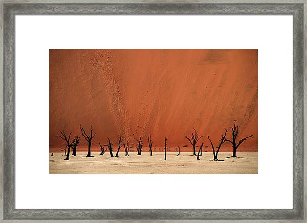 Deadvlei Framed Print by Hans-wolfgang Hawerkamp