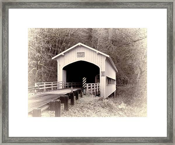 Deadwood Covered Bridge Framed Print