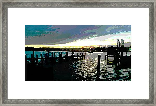 Framed Print featuring the painting Deale Maryland Harbour Seascape by G Linsenmayer