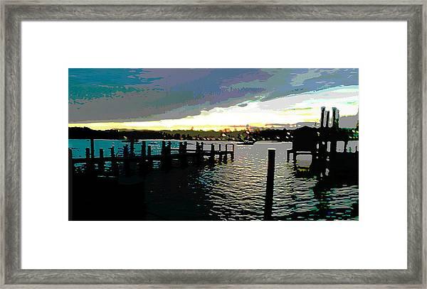Deale Maryland Harbour Seascape Framed Print