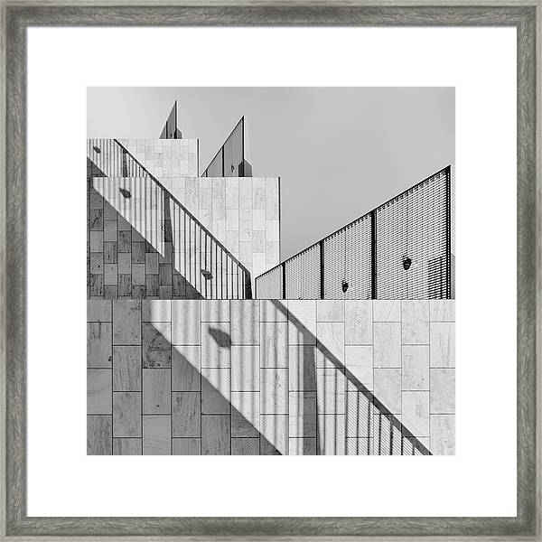 Dealing With Shadows Framed Print