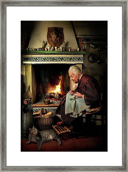Dear Cat.... Once Upon A Time... Framed Print