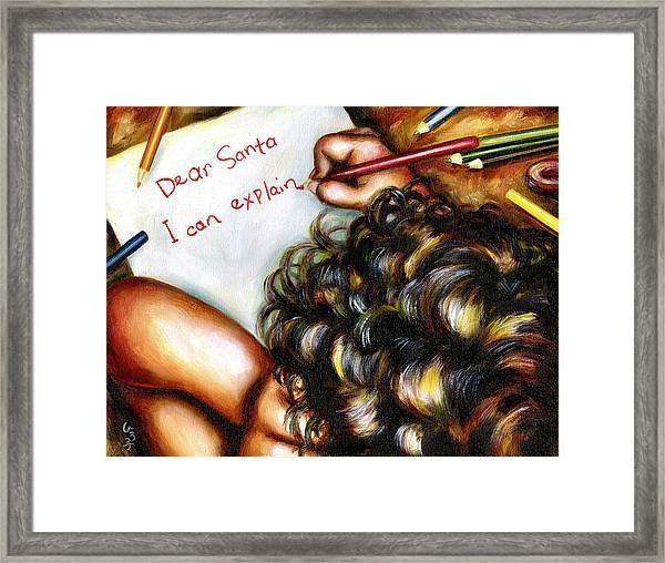 Dear Santa Framed Print