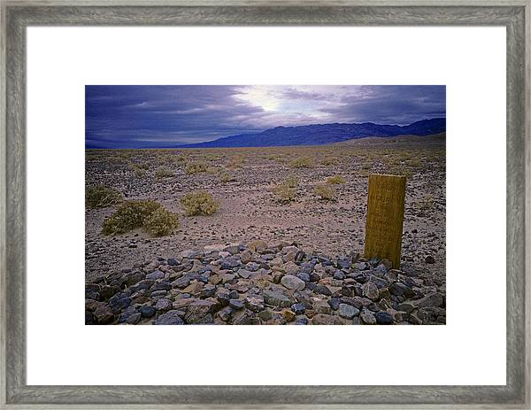 Death By The Elements Framed Print