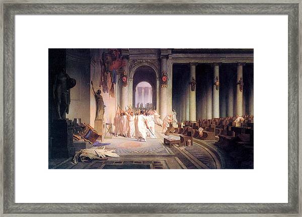 Death Of Caesar Framed Print