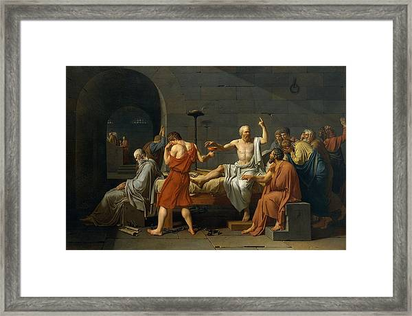 Death Of Socrates Framed Print