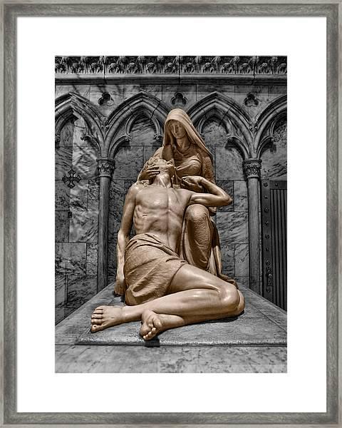 Death Of The Son Of God Framed Print by Lee Dos Santos