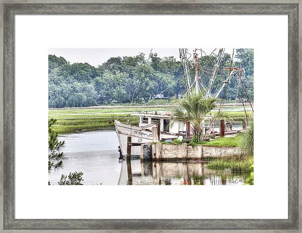 Debby John Shrimp Boat Framed Print